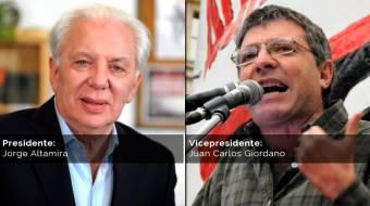 Jorge Altamira - Juan Carlos Giordano (Frente de Izquierda)