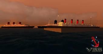RMS Aquitania , Blue Regalness y Normandie (Mário Camacho)