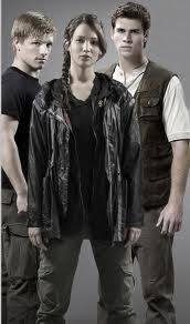 Katniss, Peeta y Gale.