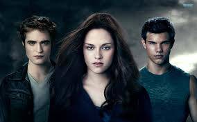 Bella, Edward y Jacob.