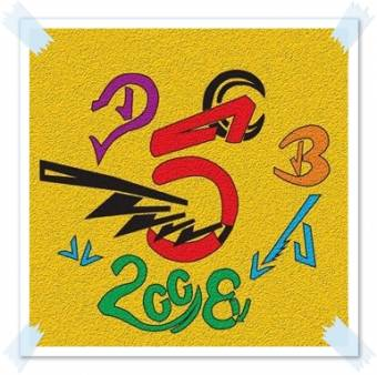 Logo a colores con fondo amarillo con efecto wall