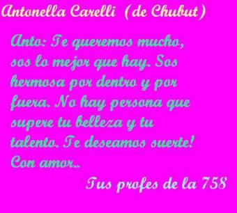 Antonella Carelli: carta de sus profes (758)