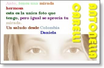 Mensaje de Daniela.
