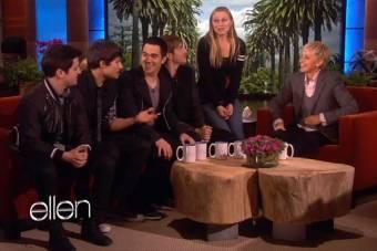 Big Time Rush  en el prestigiado programa de Hollywood The Ellen Show