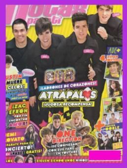 Big Time Rush es el artista que mas a engalando las revistas Por ti y Pop Stars