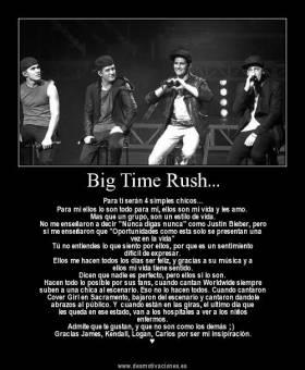 Big Time Rush genera sentimientos inexplicables a todos sus fans y tal cari�o por un Artista no se habia vuelto a repetir desde los Beatles
