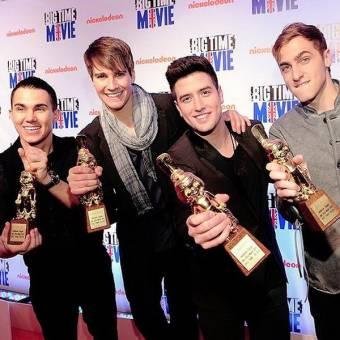Big Time Rush recibe un Golden Otto Award por Big Time Movie como mejor pelicula para TV del año