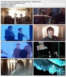 Big Time Rush y segmentos de su video mas famoso Boyfriend