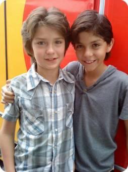 diego y robin de 12 y 13 años