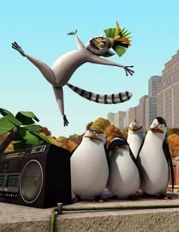 Los ,pinguinos de madascar