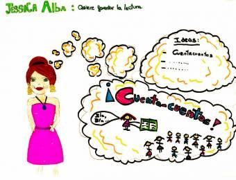22.- JESSICA ALBA FOMENTA LA LECTURA