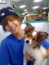 Justin bieber y su perro