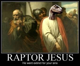 Con RaptorJesus, el es la luz que guía mi espada