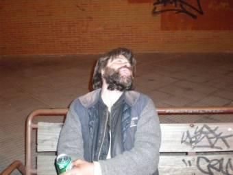 Con el borracho de Plaza castilla