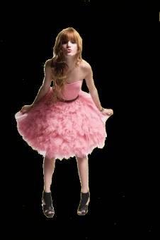 vestido de quinceaniera rosa y globos