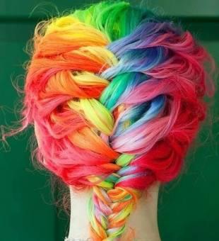 Cabello arcoiris de treza