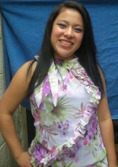 Candidata de Quinto Magisterio... Vicky Yaxon.