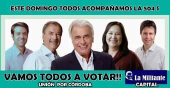 "Juan ""El Gringo"" Schiaretti - Blanca Rossi - Agustin Calleri - Edgar Bruno (Unión Por Córdoba)"