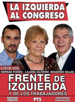 Liliana Olivero - Hernan Puddu - Eduardo Salas (Frente de Izquierda y de Los Trabajadores)