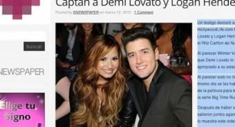El rumor de Demi con Logan a crecido como pan caliente hasta el punto de ser primera plana en Estados Unidos