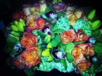 Unas flores que le regalaron