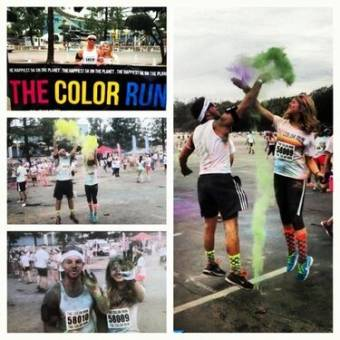 Awesome day at The #COLORRUN with my big bro, Tren