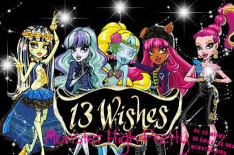 monster high 13 deseos