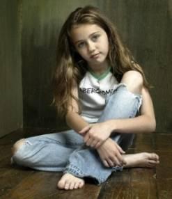 Miley con 4 años