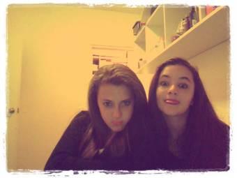 Yo con mi mejor amiga Lujy Fernandez