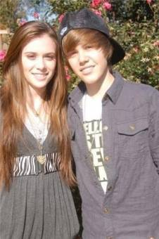 Justin Bieber with Caitlin