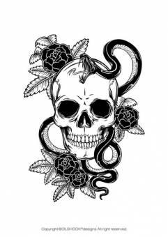 Calavera 1 Diseñada por un ilustrador muy reconocido en el mundo de las skull
