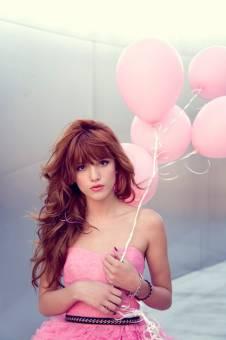 por verse tan linda con globos