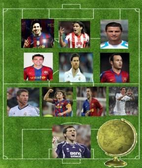 Premio al 11 Ideal-(Portero: Iker Casillas/Defensas:Serio Ramos, Pique, Puyol, Angel Di Maria/Medios:Xavi Alonso, Xavi Hernanadez,Andres Iniesta/Delanteros:Messi, Cristiano Ronaldo,Radamel Falcao)