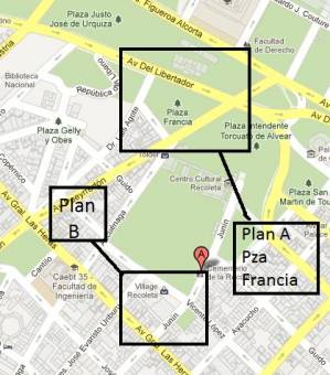 Recoleta - 	Plan B - Mc Donalds de Village Recoleta / Locos x el Futbol / Hard Rock Cafe
