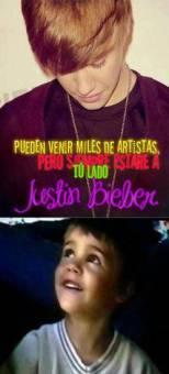 Pueden venir miles de artistas,pero siempre estare a t� lado Justin Bieber.