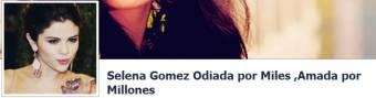 Selena Gomez Odiada por Miles ,Amada por Millones.