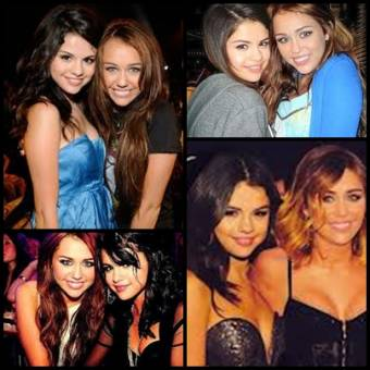 Selena Gomez y Miley Cyrus.
