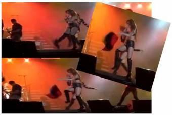 yo soy venezolana, y cuando esa estubo en un concierto, pateo la bandera, mi bandera quien se cree que es????