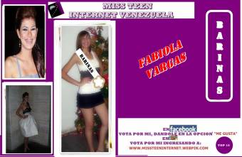 Miss Teen Internet Barinas-Fabiola Vargas