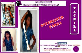 Miss Teen Internet Tachira-Snyerlith Parra