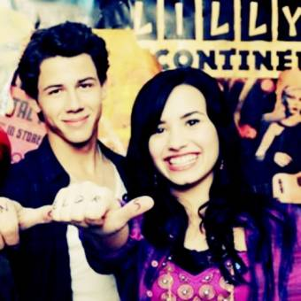 Demi Lovato con Nick Jonas