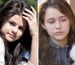 Odian a Miley y a Selena por feas sin maquillaje, pues para mí sin re-hermosas miren esas caras de ángeles