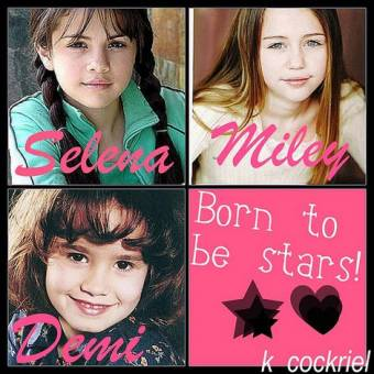 Porque desde pequeñas, Sele, Miley y Demi eran lindísimas