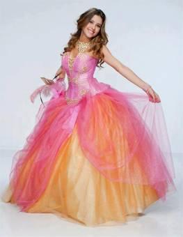vestido rosa amarillo de famosa