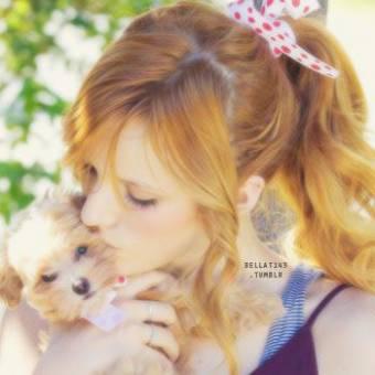 por ser tan tierna con los animales!♥♥