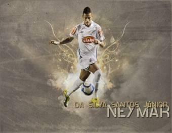 Neymar Da Silva-(Santos de Brasil)