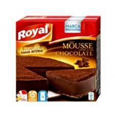 mouse de chocolate negro