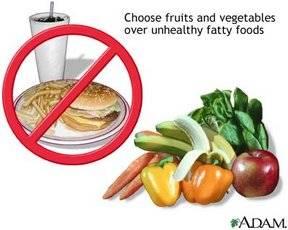Comida sana para los niños.