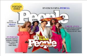 Lista de los 50 más Bellos de People en Español 2012