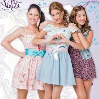 Violetta , Franchesca y camila